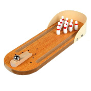 Wooden Mini Bowling Table Games Children's Puzzle Innovative Toys Parent-Child Interactive Game