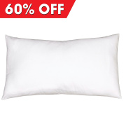 Toddler Pillow EXTRA WIDE Premium Quality Fibre Filling FREE Super Soft 100% Cotton Pillow Case by My Perfect Dreams