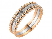 Two Tone Stackable Fancy Diamond Wedding Ring in 18K Gold