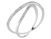 Shared Prong Set Twisted Fancy Diamond Wedding Ring in 18K Gold