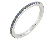 Petite Shared Prong Eternity Sapphire Ring in 18K Gold