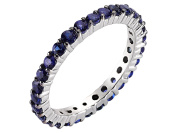 Shared Prong Eternity Sapphire Ring in 18K Gold