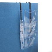 Deflecto 3 x A4 Portrait Literature File with Hanging Bracket - Crystal CP081YTCRY