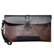 Men Handbag PU Leather Leisure Long Clutch Envelope Wallet Purse