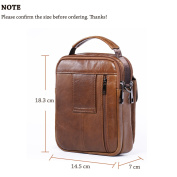 Leather Man Bag, Soft Leather Man Bags Top-Handle Bag Holster Bag Waist Bag Small Messenger Bag Mobile Phone Holster with Handle/Shoulder Strap for Galaxy Note Series iPhone 7 Plus 6 Plus + Keyring