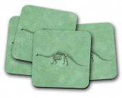 Dinosaur Drinks Coasters - set of 4 drinks mats ideal new home present or housewarming gift