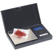 VonShef Portable Digital Pocket Scale with 100g capacity & Back-Lit LCD Display - Black/ Stainless Steel - FREE 2 Year Warranty
