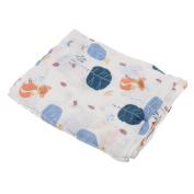 Nursery Muslin Newborn Baby Swaddling Blanket Infant Soft Cotton Swaddle Towel - Fox