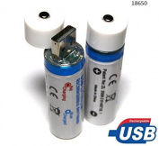 BlueBeach® USB Rechargeable 18650 Batteries Cell 3.7V 1300mah
