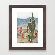 Wooden Framed Pictures Cactus Decor Framed Prints for Living Room Ready to Hang