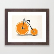 Funny Framed Pictures and Prints Orang Bike Wooden Framed Poster Ready to Hang