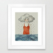 Abstract Illustration Framed Prints Framed Poster Photograpy Wall Art Ready to Hang for Living Room