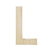 15cm Blank Unfinished Wooden Letter L