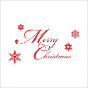 Raylinedo® Merry Christmas Removable Wall Stickers Window Sticker Art Decals Mural DIY Wallpaper for Room Decal Red Colour 96*55CM