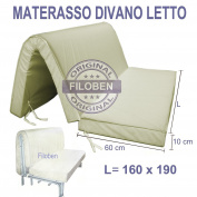 Sofa Bed Mattress 160 x 190 10 cm Thick With Seat