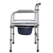 Aluminium Folding Bedside Commode Mobile Toilet Seat Toilet Seat Elderly Pregnant DisabledBath Chair Grey