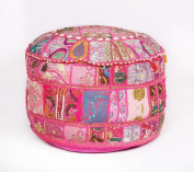 Decorative Vintage pouffe Ottoman Patchwork Embroidered Footstool