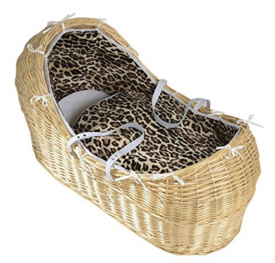 Isabella Alicia Born To Be Wild Dalmation Izzy Pod Natural Moses Basket