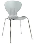 Blue Box Sienna Plastic Chair - Grey