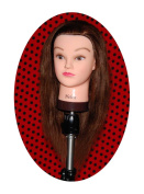Bellrino 50cm - 60cm 100% Human Hair Cosmetology Mannequin Manikin Training Head ~ Helen