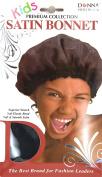 Kids Black Satin Bonnet