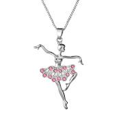 Adecco LLC Little Girl Necklace Dancer Ballet Recital Gift Ballerina Dance Necklaces Teen Girls Jewellery 41cm