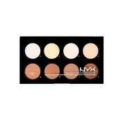 NYX HCPP01 Highlight & Contour Pro Palette 8 Colours x 5ml Full Size **BCS_INPF**