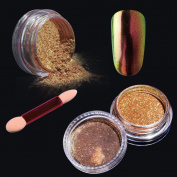 Elite99 Chameleon Colour Change Nail Chrome Powder,Shinning Mirror Effect Nail Polish Glitter Powder,1g Chrome Powder+Sponge Stick Makeup Manicure DIY Kit