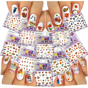 Nail Art 3D Stickers ♥ Thanksgiving Collection, 10-Pack /EE-IV/