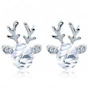 Christmas Earrings Gift! AMA(TM) Luxury Three Dimensional Christmas Reindeer Antlers Earing Xmas Crystal Gemstone Earrings