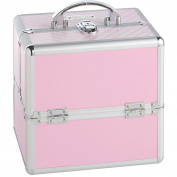 Beautify Cosmetic Organiser Case - 25cm Professional Aluminium Makeup Storage Box