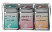 Natures Way Aromatherapy Pack of Three Massage Candle 108g Each CODE