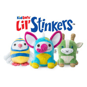 Plant Therapy's KidSafe® Lil' Stinkers™ Essential Oil Diffuser Aroma Plush™ Animal Set of 3 & Signature Essential Oils