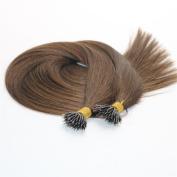 .  Virgin cuticle human hair extension double drawn #4 brown nano ring hair extension(1g/str)