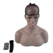 Dingli Hair 5 PCS Black Coasplay Wig Caps with Great Elasticity Open End Black Mesh Net Liner Weaving Cap for All Hair Length