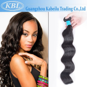 KBL(KaBeiLu) Brazilian Virgin Hair Loose Wave Human Hair Extensions 1 Bundle Natural Black