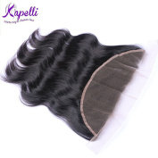 Kapelli Hair(TM) Brazilian Virgin Hair Body Wave Lace Frontal Closure 134 Free Part 100% Unprocessed Remy Human Hair Extensions Top Lace Front Closures Natural Colour