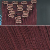 Beauties Factory BF 46cm #99J Cheryl Cole Red (Hair205) Full Head Clip in Straight Remy Human Hair Extension