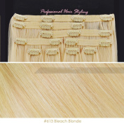 Beauties Factory BF Professional 50cm Clip in 100% Remy Human Hair Extension 100g #613 Bleach Blonde CODE