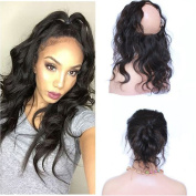 Amethyst Pre Plucked 360 Lace Frontal Closure with Adjustable Strape Grade 8A Brazilian Virgin Hair Body Wave With Natural Hairline Lace Band Frontal Closure With Baby Hair 130 Density
