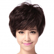 BESTLEE Short Synthetic Fluffy Full Hair Wigs for Elegant Women over 40 Daily Wear