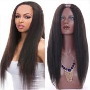 Amethyst Grade 8A Brazilian Virgin Human Hair Yaki Straight Upart Wigs 130 Density Glueless U Part Human Hair Wigs for Black Women