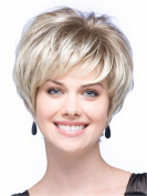 Short Straight Wigs Grey White Facinating Wigs for Women Natural Heat Resistant Synthetic Hair Wigs 20cm