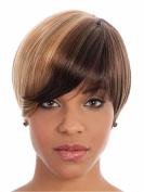 Heat Resistant Synthetic African American Wigs For Black Women New Brown Blonde Mixed Colour Layered Short Cut Wigs 20cm