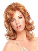 Medium Wavy Wigs Auburn Facinating Wigs for Women Natural Heat Resistant Synthetic Hair Wigs 50cm