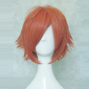 Sword Art Online Klein Tsuboi Ryotarou Orange 35cm Short Straight Cosplay Wig + Free Wig Cap