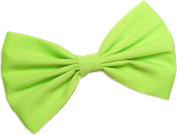 Neon Green Hair Bow Clip Hair Accessory Handmade by Sweet in the City