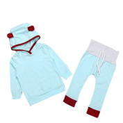 Efaster Fashion Baby Girl Boy Outfit Lovely Ear Hoodie TShirt Long Pants Clothes