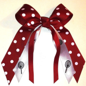 Tennis Hair Bow, Made in the USA, Many Colours Avail, French Clip
