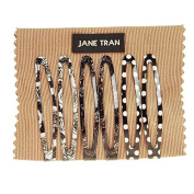 Jane Tran Black and White Assorted Clip Set